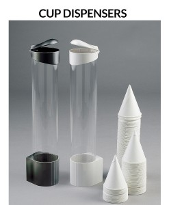 Water cooler cup dispensers - black or white